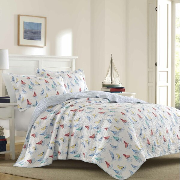 Ahoy 100% Cotton Reversible Quilt Set By Laura Ashley Home by Laura Ashley Home